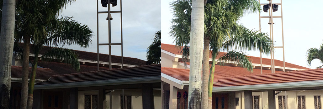 No-Pressure-Church-Roof-Cleaning-before-after
